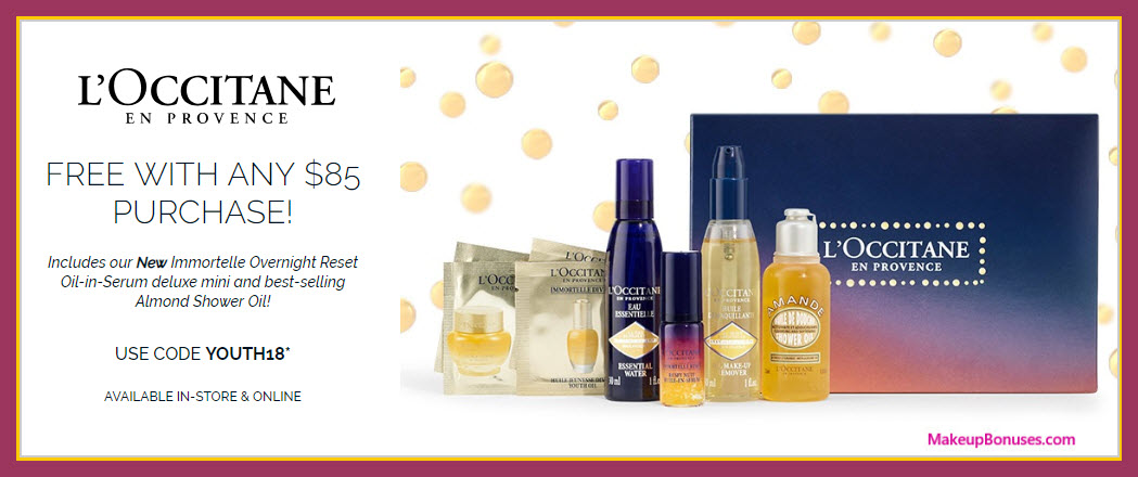 Receive a free 8-pc gift with $85 L'Occitane purchase #loccitaneUSA