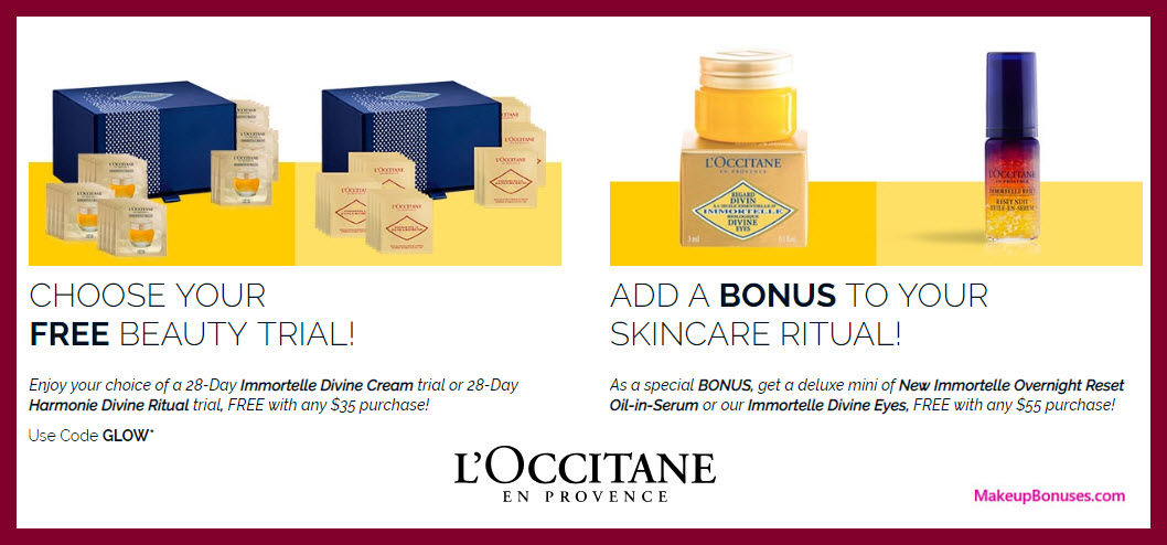 Receive your choice of 28-pc gift with $35 L'Occitane purchase #loccitaneUSA