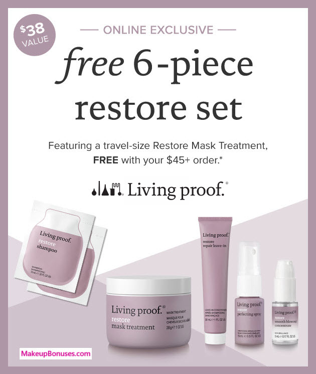 Receive a free 6-pc gift with $45 Living Proof purchase #LivingProofInc