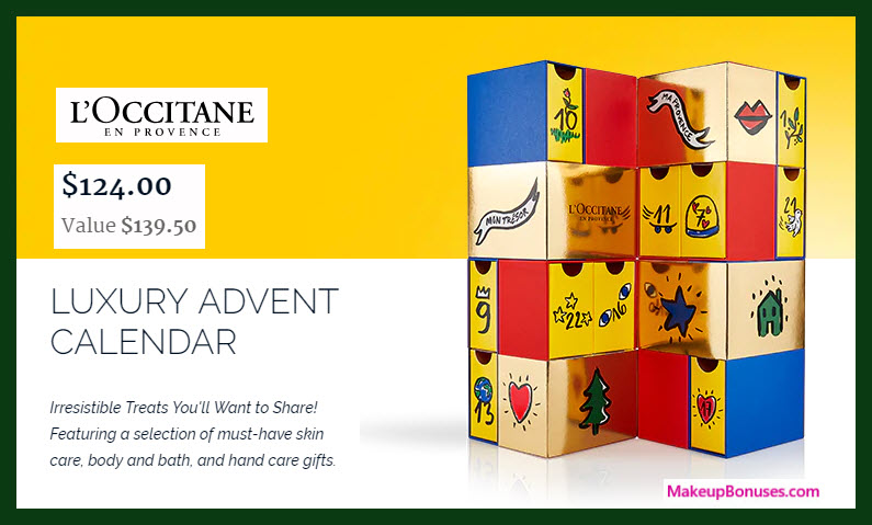 Luxury Advent Calendar - MakeupBonuses.com #loccitaneUSA