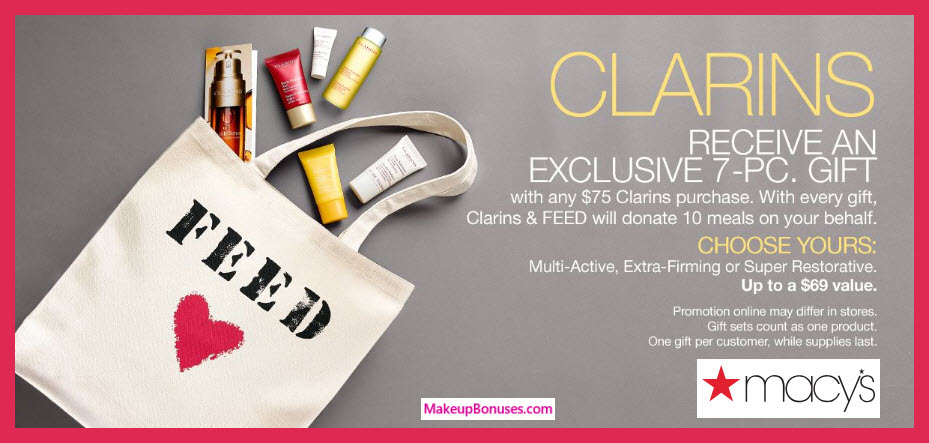 Receive your choice of 7-pc gift with $75 Clarins purchase #macys