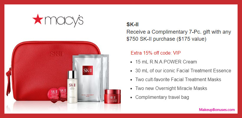 Receive a free 7-pc gift with $750 SK-II purchase #macys