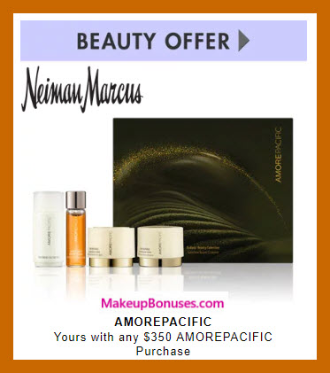 Receive a free 4-pc gift with $350 AMOREPACIFIC purchase