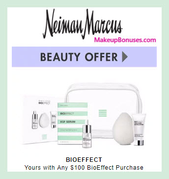 Receive a free 4-pc gift with $100 BIOEFFECT purchase #neimanmarcus