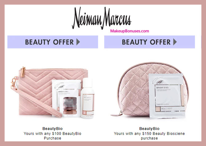 Receive a free 6-pc gift with $150 Beauty Bioscience purchase #neimanmarcus