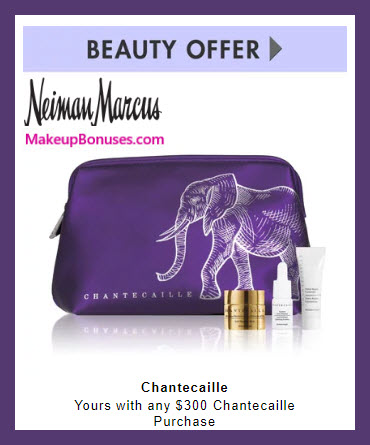Receive a free 4-pc gift with $300 Chantecaille purchase