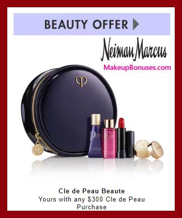 Receive a free 5-pc gift with $300 Clé de Peau Beauté purchase