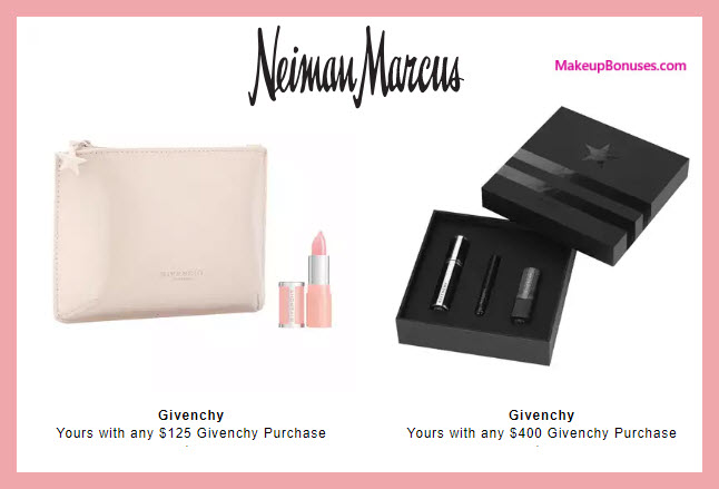 Receive a free 5-pc gift with $400 Givenchy purchase