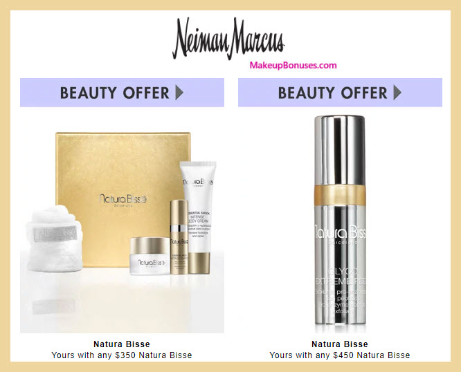 Receive a free 6-pc gift with $500 Natura Bissé purchase #neimanmarcus