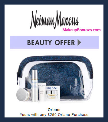Receive a free 5-pc gift with $250 Orlane purchase #neimanmarcus