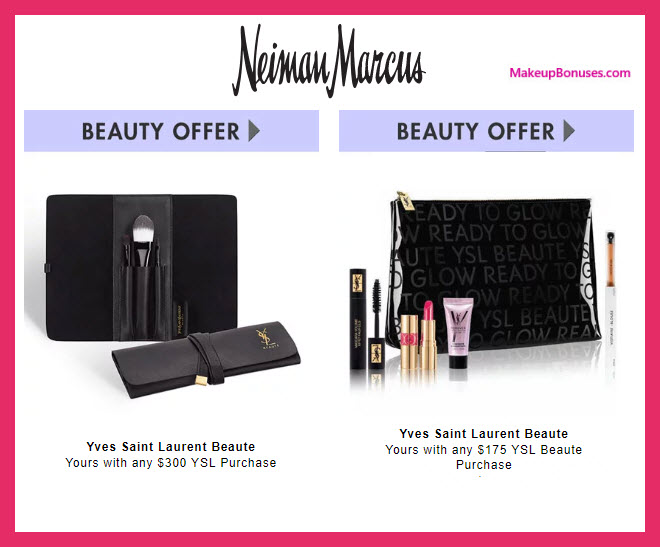 Receive a free 5-pc gift with $175 Yves Saint Laurent purchase