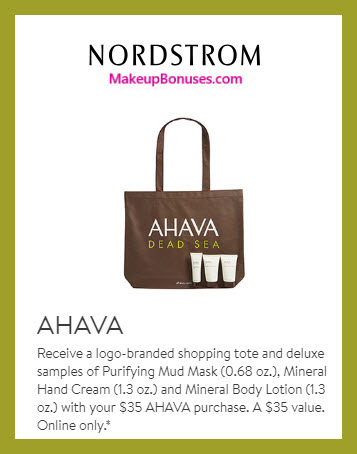 Receive a free 4-pc gift with $35 AHAVA purchase #nordstrom