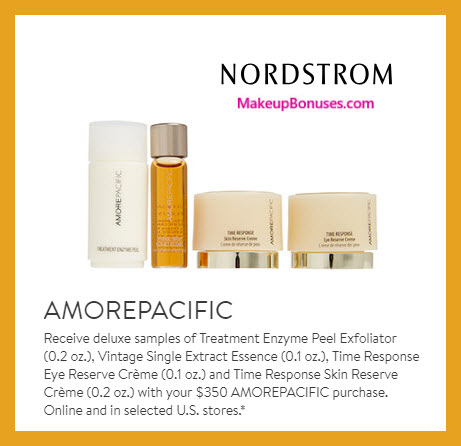 Receive a free 4-pc gift with $350 AMOREPACIFIC purchase #nordstrom