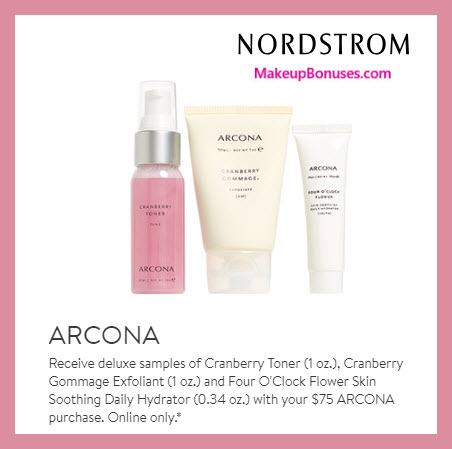 Receive a free 3-pc gift with $75 ARCONA purchase #nordstrom