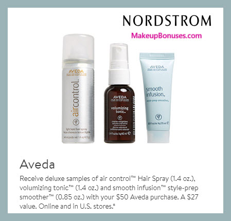 Receive a free 3-pc gift with $50 Aveda purchase #nordstrom