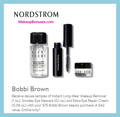 Receive a free 3-pc gift with $75 Bobbi Brown purchase #nordstrom
