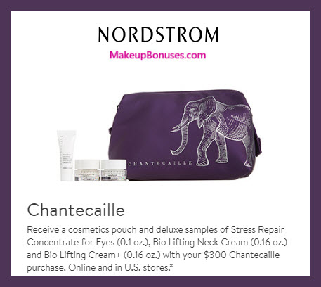 Receive a free 4-pc gift with $300 Chantecaille purchase #nordstrom