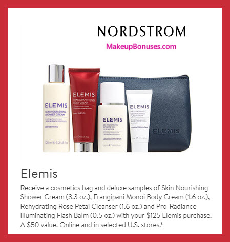 Receive a free 5-pc gift with $125 Elemis purchase #nordstrom