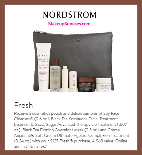 Receive a free 6-pc gift with $125 Fresh purchase #nordstrom