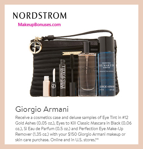 Receive a free 5-pc gift with $150 Giorgio Armani purchase #nordstrom