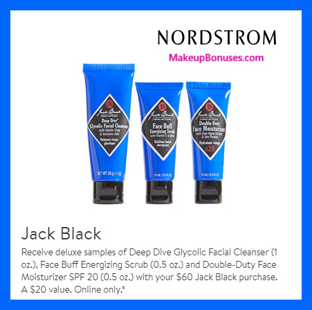 Receive a free 3-pc gift with $60 Jack Black purchase #nordstrom