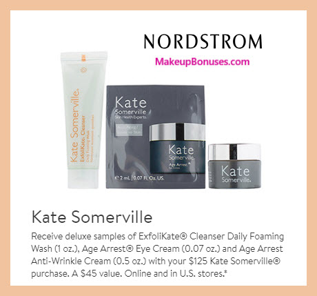 Receive a free 3-pc gift with $125 Kate Somerville purchase #nordstrom