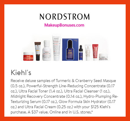 Receive a free 8-pc gift with $125 Kiehl's purchase #nordstrom