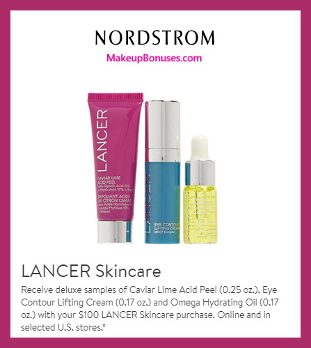 Receive a free 3-pc gift with $100 LANCER purchase #nordstrom