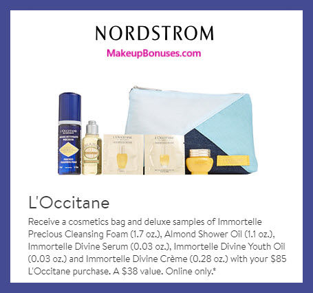 Receive a free 6-pc gift with $85 L'Occitane purchase #nordstrom