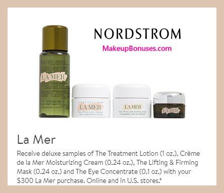 Receive a free 4-pc gift with $300 La Mer purchase #nordstrom