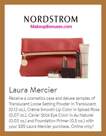 Receive a free 5-pc gift with $85 Laura Mercier purchase #nordstrom