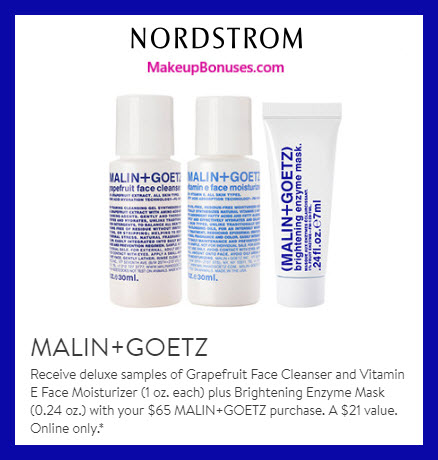 Receive a free 3-pc gift with $65 Malin + Goetz purchase #nordstrom