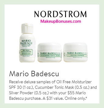 Receive a free 3-pc gift with $55 Mario Badescu purchase #nordstrom