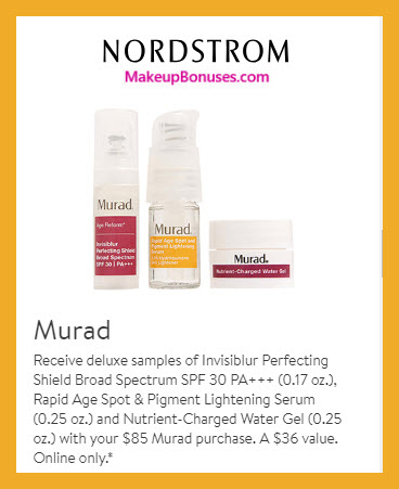 Receive a free 3-pc gift with $85 Murad purchase #nordstrom