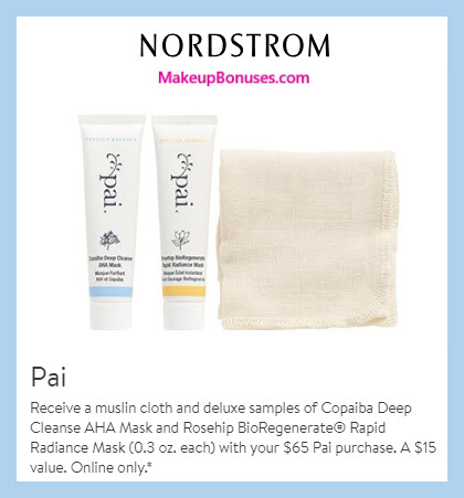Receive a free 3-pc gift with $65 Pai Skincare purchase #nordstrom