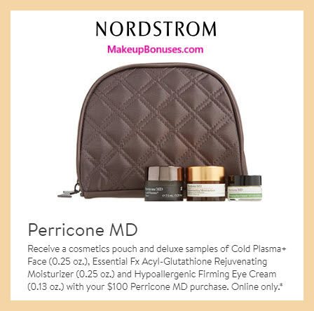 Receive a free 4-pc gift with $100 Perricone MD purchase #nordstrom