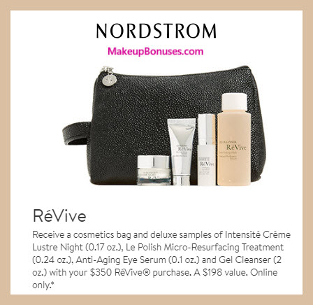 Receive a free 5-pc gift with $350 RéVive purchase #nordstrom
