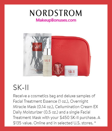 Receive a free 5-pc gift with $450 SK-II purchase #nordstrom