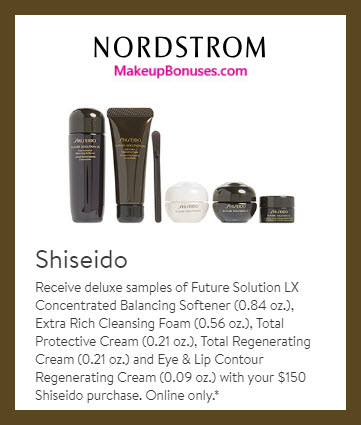 Receive a free 5-pc gift with $150 Shiseido purchase #nordstrom