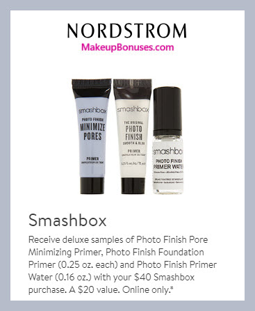 Receive a free 3-pc gift with $40 Smashbox purchase #nordstrom