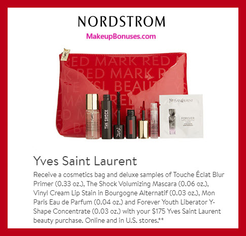Receive a free 6-pc gift with $175 Yves Saint Laurent purchase #nordstrom