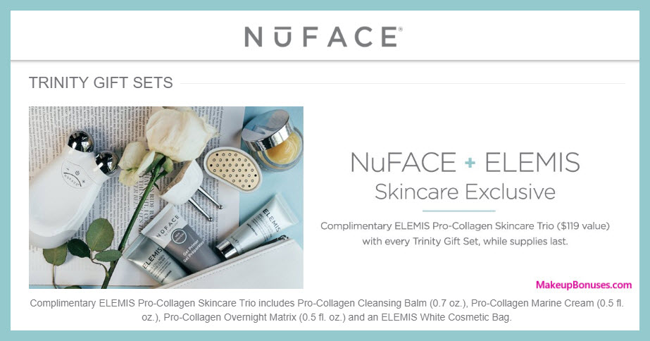 Receive a free 3-pc gift with Trinity Gift Sets purchase #mynuface