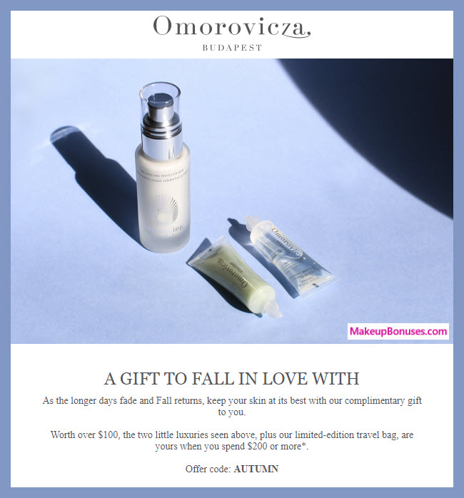 Receive a free 3-pc gift with $200 Omorovicza purchase #omorovicza