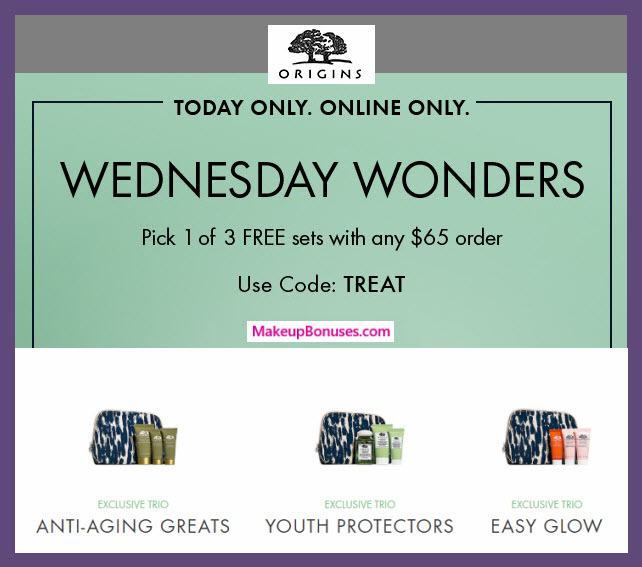 Receive your choice of 4-pc gift with purchase #origins