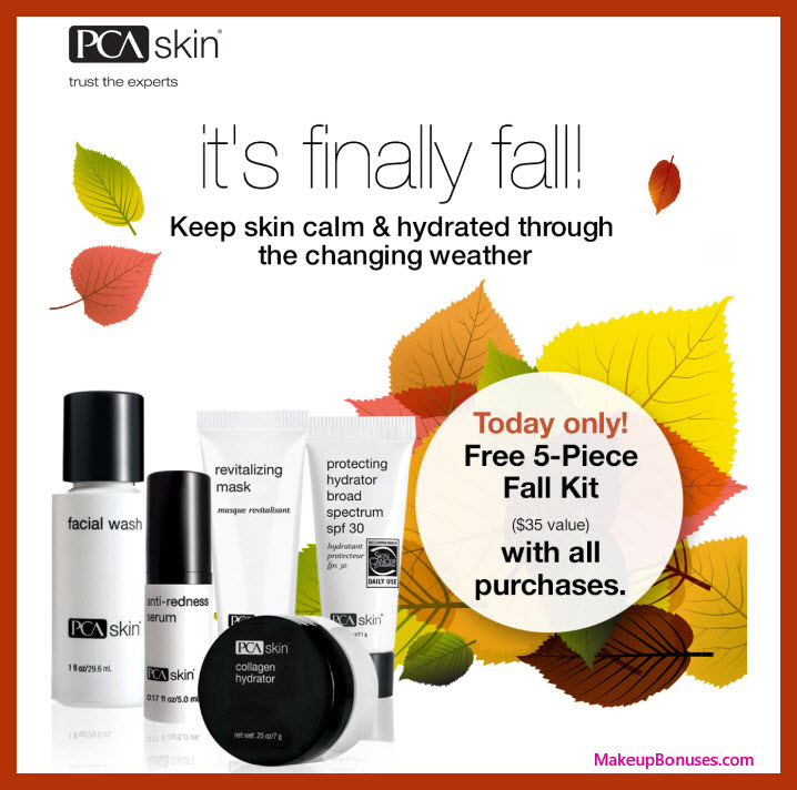 Receive a free 5-pc gift with purchase #PCAskin