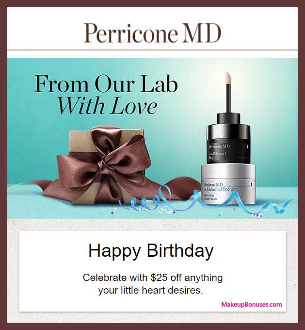 Perricone MD Birthday Gift - MakeupBonuses.com #PerriconeMD