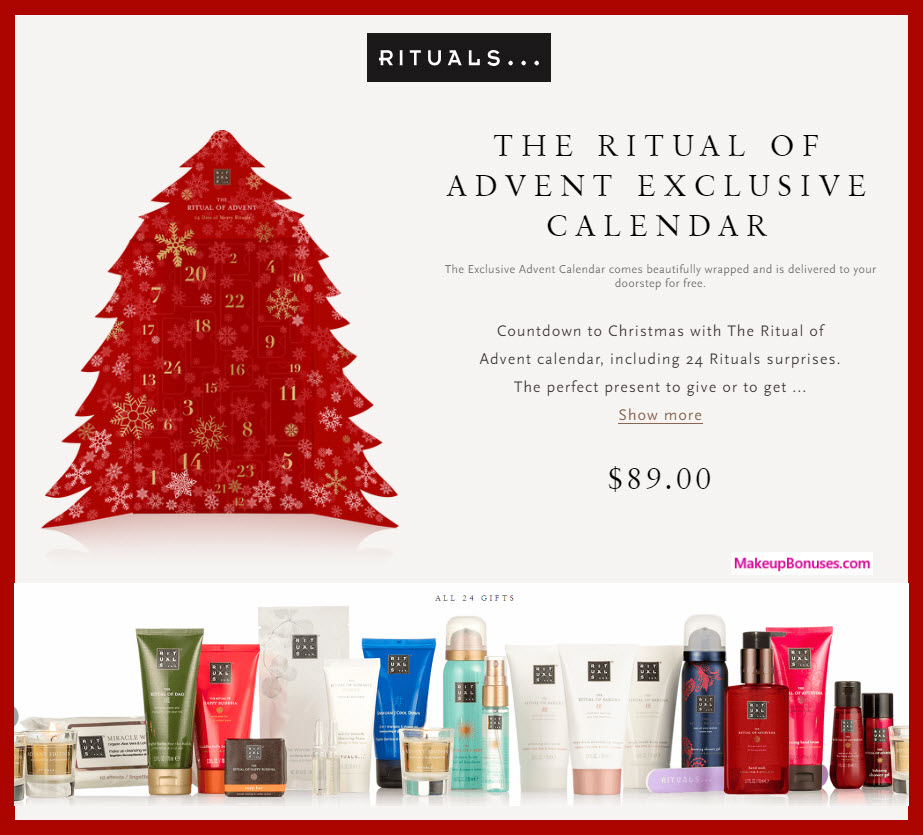THE RITUAL OF ADVENT - MakeupBonuses.com # #rituals