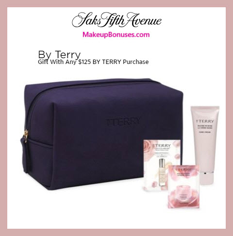 Receive a free 4-pc gift with $125 By Terry purchase #saks