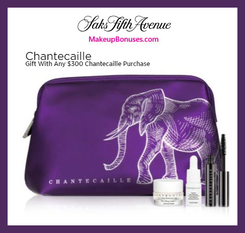 Receive a free 4-pc gift with $300 Chantecaille purchase #saks