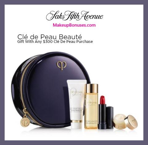 Receive a free 5-pc gift with $300 Clé de Peau Beauté purchase #saks